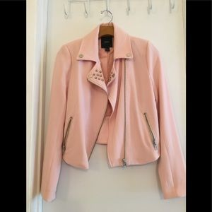 Blush Colored Zippered Jacket